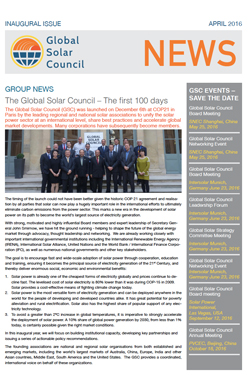 GSC Inaugural Newsletter Now Online