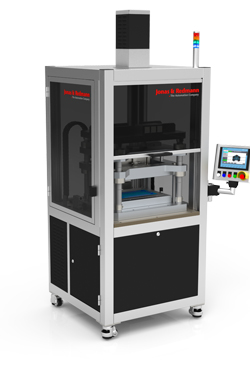 Jonas & Redmann new automation for reproducible deep drawing of composite foils
